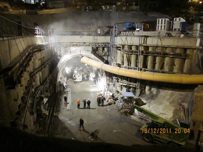 Строительство тоннеля 8 и 8а на обходе г. Сочи